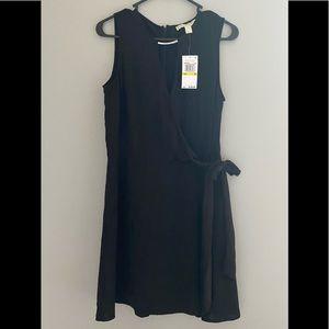 Michael Kors black silk mini dress